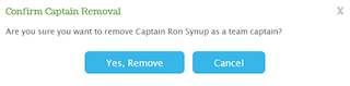 Captain Removal