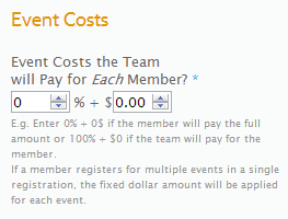Event Costs
