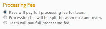 Processing Fee