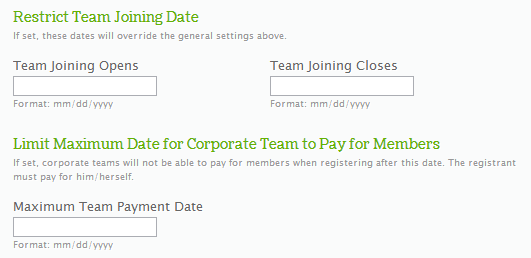 Restrict Joining Dates