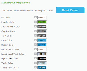 Modify Widget Style Colors