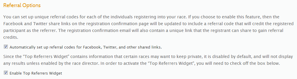 Referral Options