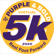 Purple&Bold Best Foot Forward - Virtual 5k HOMEcoming at Home