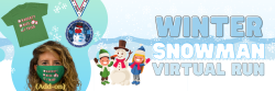Winter Snowman Holiday Virtual Run