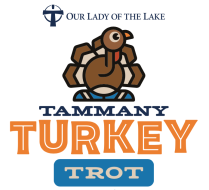 Our Lady of the Lake Tammany Turkey Trot Logo
