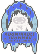 Abominable Snowman Mileage Challenge