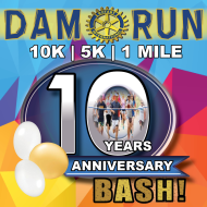 Dam Run 10k 5k & 1Mile 10th Anniversary Bash ( by the Rotary Club of Ogallala)