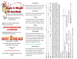Jingle & Mingle 5k Run/Walk