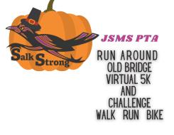 Jonas Salk Middle School PTA Virtual Run Around Old Bridge 5K, Challenge and Bike Challenge