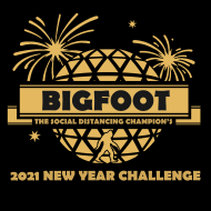 Bigfoot...The Social Distancing Champion's New Year Challenge