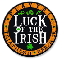 Luck of the Irish Triathlon, Run-Bike-Run & 5K 2021