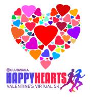CLUBWAKA Happy Hearts Virtual 5K