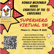 Ronald McDonald House Charities of the Carolinas Superheroes Virtual 5K