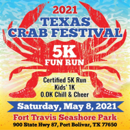 Texas Crab Festival 5K Certified/Timed Run & 5K/1K Walk and 0.0K