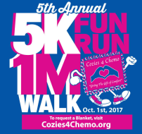 Cozies 4 Chemo 5th Annual 5K Fun Run & 1 Mile Walk