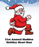 Haddon Holiday Heart Run has been RESCHEDULED for January 14, 2017