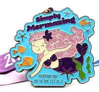 Mermaid Day 1M 5K 10K 13.1 26.2 - Participate from home!