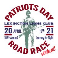 Lexington Lions Patriots Day 5 Mile Road Race (Virtual)