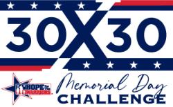 2021 Memorial Day 30x30 Challenge