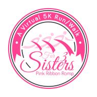 For 3 Sisters' Pink Ribbon Romp - a Virtual 5K Run/Walk