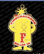 Firecrackers Miller Virtual 5K Fundraiser Run/Walk