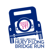 Huey P. Long Bridge Run Logo