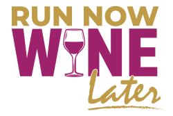 Run Now Wine Later Challenge Logo