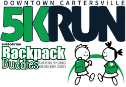 """The """"Downtown Cartersville 5K"""" (and a 1K Fun Run) to support Backpack Buddies"""