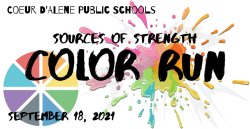 2021 Coeur d'Alene Sources of Strength Color Run