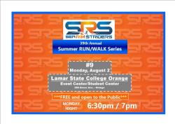 Sea Rim Striders FREE Summer Run/Walk Series #9 - VOLUNTEER