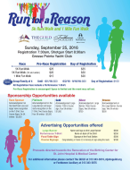 """Run for a Reason"" 5k Run/Walk and 1 Mile Fun Walk"
