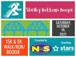 21st Annual Shelby Bottoms Boogie 15K Run and 5K Run/Walk