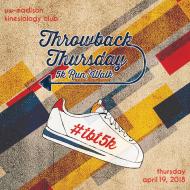 Throwback Thursday 5K Run/Walk by Kinesiology Club, UW-Madison