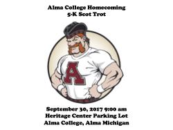 Alma College Homecoming 5-K Scot Trot
