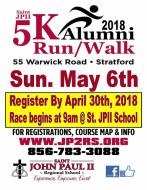 Saint John Paul II 5k Run/Walk Rescheduled