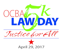 3rd Annual OCBA Law Day 5k: Justice for All