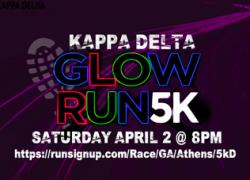 Kappa Delta's 5KD Glow Run