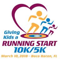 Giving Kids a Running Start 10K/5K Run - Boca Raton