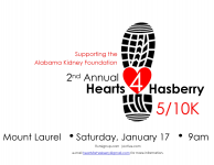 2nd Annual Hearts for Hasberry 5k/10k