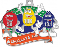 Chocolate Run Virtual Race 5K, 10K, and Half Marathon