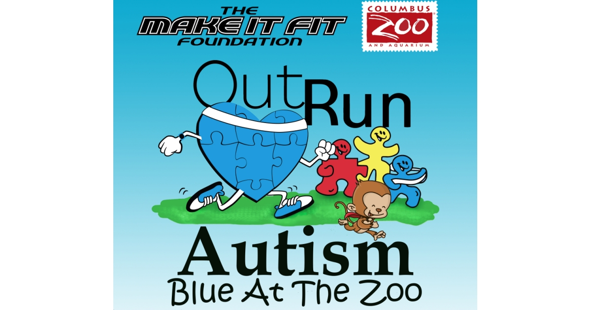 Outrun Autism Blue At The Zoo