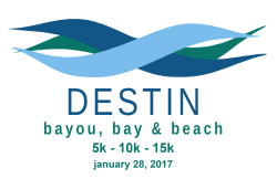Destin's 7th Bayou, Bay & Beach 5K Run/Walk, 10K & 15K