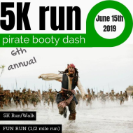 Pirate Booty Dash 5K Run/Walk/FunRun