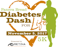 2017 Panera Bread Diabetes Dash For Life 5K Presented by Retina Associates