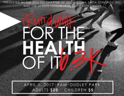 #iRUN/WALK FOR THE HEALTH OF IT - 6.3K