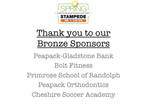Bronze Sponsors (continued)