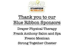 Blue Ribbon Sponsors