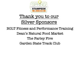 Silver Level Sponsors
