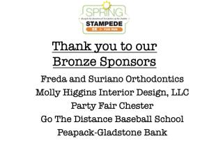 Bronze Level Sponsors