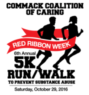 The Commack Coalition of Caring 6th Annual Red Ribbon Week 5K Run/Walk To Prevent Substance Abuse